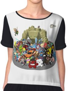 Indie Game Collage Chiffon Top