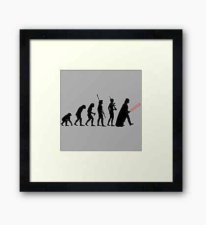 It's Evolution Baby! Framed Print