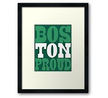 BOSTON PROUD Framed Print