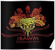 JBAWM Red Flower Poster