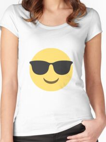 Cool emoji Women's Fitted Scoop T-Shirt