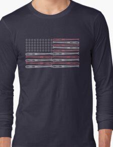 Baseball Flag Design Long Sleeve T-Shirt