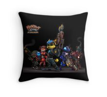 ratchet and clank up the arsenal Throw Pillow
