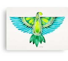 Parrot – Blue & Green Canvas Print