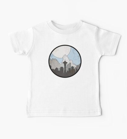 Map to the Pacific Northwest - Round Baby Tee