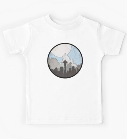 Map to the Pacific Northwest - Round Kids Tee