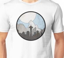 Map to the Pacific Northwest - Round Unisex T-Shirt