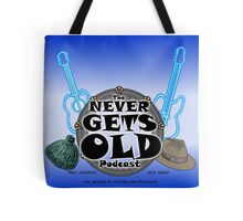 The Never Gets Old Logo music and adventure Tote Bag