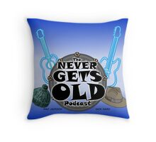 The Never Gets Old Logo music and adventure Throw Pillow