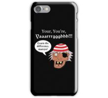 Grammar Pirate - White Text Variant iPhone Case/Skin
