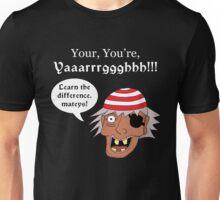 Grammar Pirate - White Text Variant Unisex T-Shirt