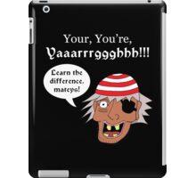 Grammar Pirate - White Text Variant iPad Case/Skin
