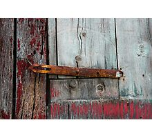 Door of the old barn Photographic Print