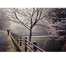 Strolling in the Rain Photographic Print