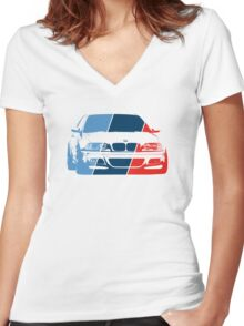 E36 in M colors Women's Fitted V-Neck T-Shirt
