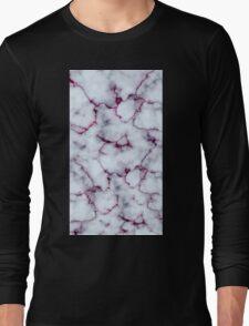 Marble Design Pink Long Sleeve T-Shirt