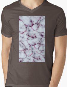 Marble Design Pink Mens V-Neck T-Shirt