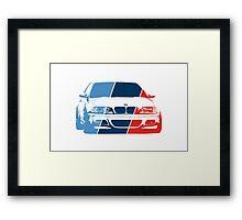 E36 in M colors Framed Print