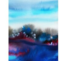 Watercolor abstract landscape 25 Photographic Print