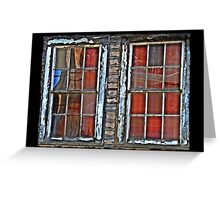 Reflections and Spiderweb Windows Greeting Card