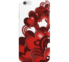 Red Falling Hearts iPhone Case/Skin