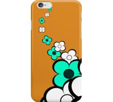 Turquoise and White Flowers iPhone Case/Skin