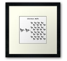 Chicken Math (Square) Woodcut Framed Print