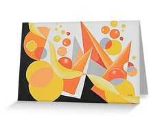 YELLOW/ORANGE BALLOON ABSTRACT Greeting Card