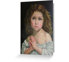 the prayer after W. Bouguereau Greeting Card