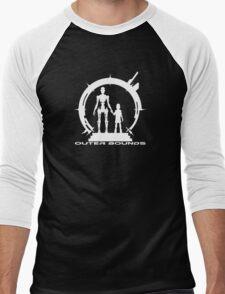 OB Logo Anna White Men's Baseball ¾ T-Shirt