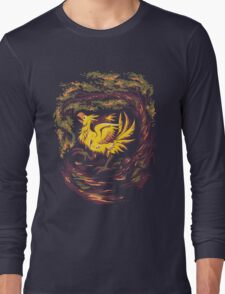 Chocobo with Blossoms Long Sleeve T-Shirt