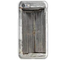 Gray Door in a Wall iPhone Case/Skin