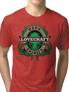 Lovecraft Dark Spirits - light print Tri-blend T-Shirt