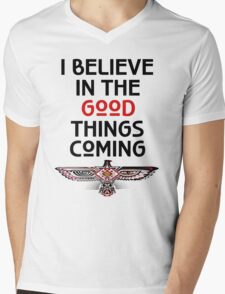 "Nahko and Medicine for the People - ""I believe in the good things coming"" v2 Mens V-Neck T-Shirt"
