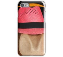 Colored Panama Hats iPhone Case/Skin