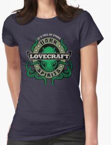 Lovecraft Dark Spirits - dark print Womens Fitted T-Shirt