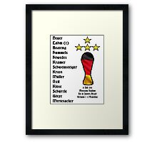 Germany 2014 World Cup Final Winners Framed Print