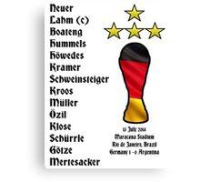 Germany 2014 World Cup Final Winners Canvas Print