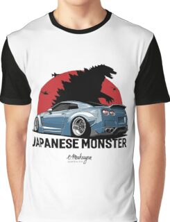 Nissan GTR. Japanese Monster (grey-blue) Graphic T-Shirt