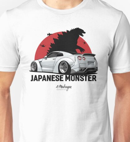 Nissan GTR. Japanese Monster (white) Unisex T-Shirt