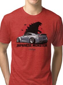 Nissan GTR. Japanese Monster (grey) Tri-blend T-Shirt
