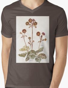 Primula 'Gold Lace' - Botanical Mens V-Neck T-Shirt