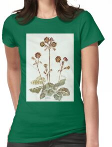 Primula 'Gold Lace' - Botanical Womens Fitted T-Shirt