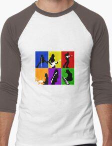 Cage The Elephant Pop Art  Men's Baseball ¾ T-Shirt