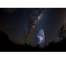 Milky Way over Sculptures Photographic Print