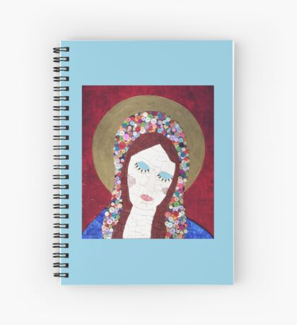 Mosaic - Mother Mary Spiral Notebook