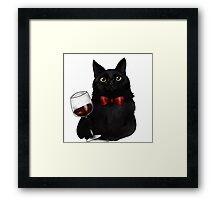 Wine Cat Framed Print