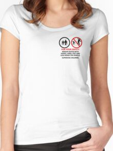 For Your Safety - No Dancing Warning (Stacked) Women's Fitted Scoop T-Shirt
