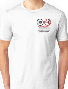 For Your Safety - No Dancing Warning (Stacked) Unisex T-Shirt