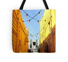Yellow Walls, Blue Sky Tote Bag